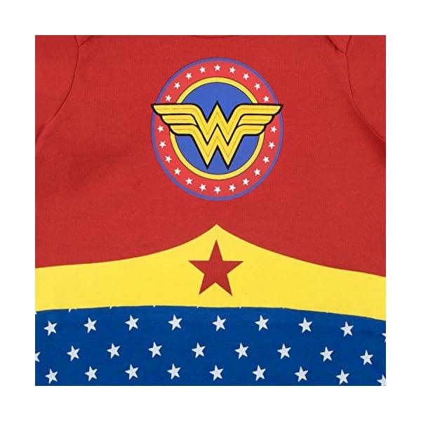 Wonder Woman Pijama Entera y Venda para Niñas Bebés 2