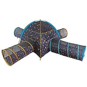 Pacific Play Tents - Tienda de campaña para niños con 4 túneles para diversión en Interiores y Exteriores