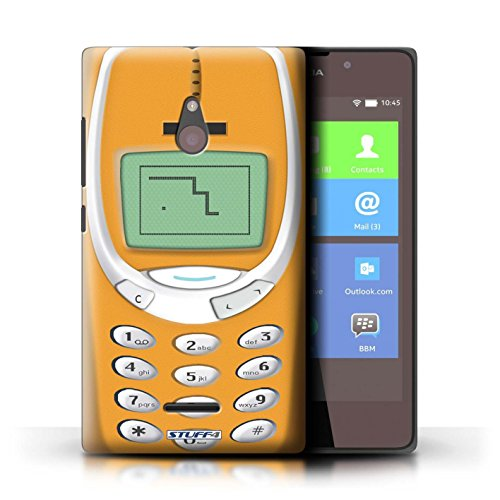 Kobalt® Imprimé Etui / Coque pour Nokia XL / Nokia 8210 vert conception / Série Portables rétro Nokia 3310 orange