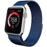 Apple Watch Banda,42mm Milanese Loop Correa de Acero Inoxidable Reemplazo de Banda de la Mu?eca para Apple Watch Todos los Modelos 42mm No Hebilla Needed,Azul