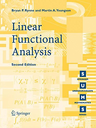 Linear Functional Analysis (Springer Undergraduate Mathematics Series) por Bryan P. Rynne