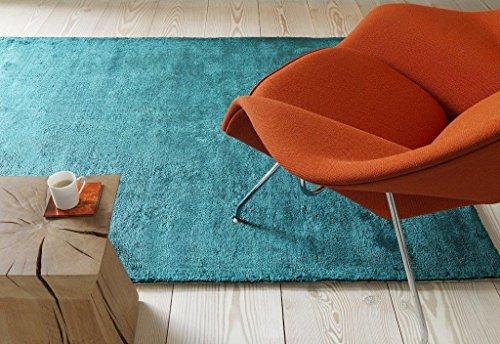Fußboden Teppich Naturfaser Carpet Design DOLCE RUG 200x300 cm TEAL Türkis (Jute-teppich Teal)