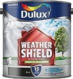 Dulux Weather Shield Smooth Masonry Paint, 2.5 L - Black