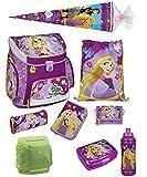 Disney Princess Rapunzel Prinzessin Schulranzen Set 9tlg. mit Federmappe Dose Flasche Schultüte Scooli Campus Up RAVT8252