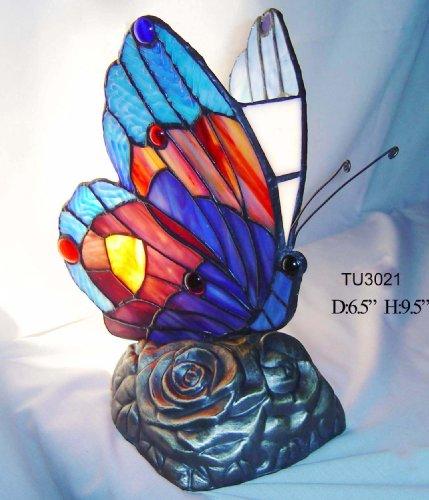 Tiffany Stil Schmetterling Accent Lampe, TU2021