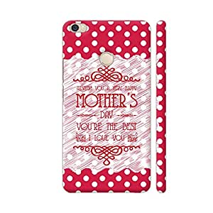 Colorpur Xiaomi Mi Max Cover - Wishing You A Happy Mother's Day On Red Polka Dots Printed Back Case