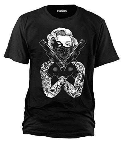 Wolkenbruch® T-Shirt Marylin Monroe Gangster, Gr.XXL