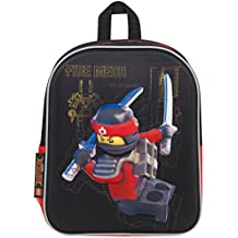 Mochila Lego Ninjago Movie 3D School Bag | Kai Ninjago mochila bandolera con correas acolchadas y bolsillo de la botella de agua de malla