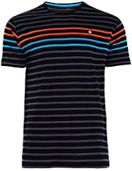 Camiseta BORTH, Hombre, Negro / Rayas, Manga corta (M)