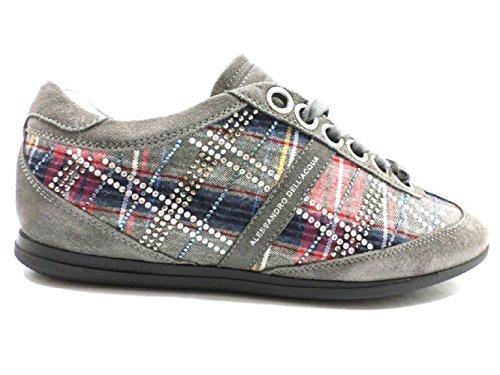 alessandro-dellacqua-sneakers-grigio-camoscio-tessuto-38-eu-grigio