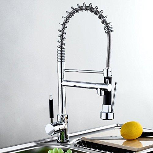 MASCARELLO® Modern Chrome Pull Out Spray Hose Swivel Brass Kitchen Faucet Mixer Tap Vessel