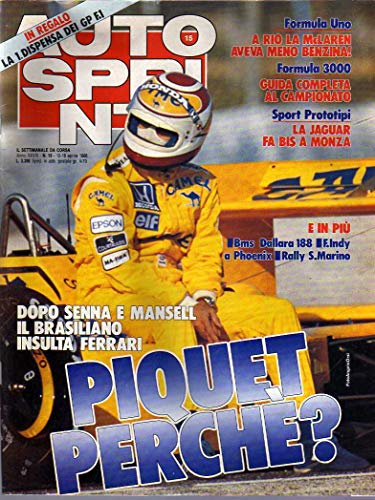 Autosprint n. 15 del 4 / 1988 Senna, Mansell, Aspirati, Alfa 33 Sport Wagon