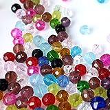 K2-accessories A3427 Assortiment de 200 perles en verre à facettes 4 mm