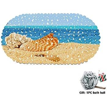 Blaues Meer und Blauer Himmel Morbuy Badematte Rutschmatte mit Saugn/äpfe Duscheinlage Antibakteriell Anti-Rutsch-Badewanneneinlage 35 * 70cm,Freizeit Badezimmer Duschmatten Dusche rutschfest