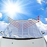 Boonor - Parabrisas de 150x 118cm para proteger del hielo, el polvo y el calor