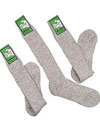 Tobeni 3 paires chaussettes Norvégiens avec de la laine et de la sole en peluche pour les hommes et les femmes