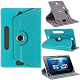 TGK® 360 Degree Rotating Leather Rotary Swivel Stand Case Cover For Lenovo Tab 4 10 Tablet, Lenovo Tab 4 10 LTE 10 Inch (Sky Blue)