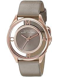 Marc Jacobs MBM1375 - Reloj de pulsera Mujer, Cuero, color Gris