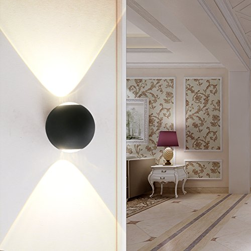 Ralbay Modern LED Wall Light Up Down Wall Lamp Ideal For Outdoor Garden  Living Room Bedroom