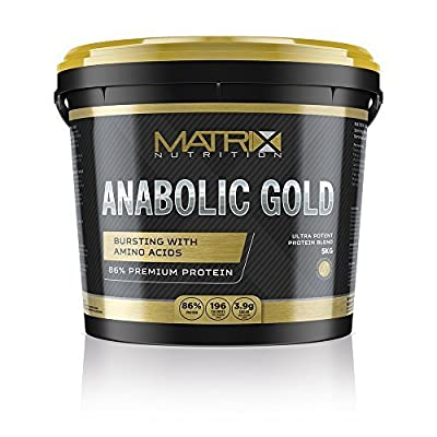 Matrix Nutrition Anabolic Gold 86% Protein Powder | Whey Protein Concentrate Complex | Low Sugar Lean Muscle Building Training Shake by Matrix Nutrition