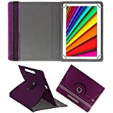 Fastway Rotating Leather Flip Case For I Kall N10 16 GB 10.1 With Wi-Fi+4G Tablet Cover Stand Purple