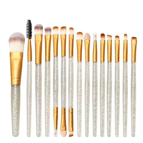 Beauty 15Pinceaux Maquillages Professionnels Kit De 16Pcs, Poils Synthetiques Doux Et Sans Cruauté, Makeup Brushes Pinceaux Teint Yeux Hiroo (L2)