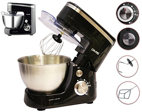 Küchenmaschine Rührmaschine Knetmaschine Teigkneter Schwarz 5L, 1400 W max. DMS®