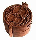 Zauberdose - Schmuckdose - AVALON - Puzzledose - aus Holz (hkz4)