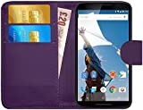 G-Shield Hülle für Google Nexus 6 Klapphülle mit Kartenfach - Lila