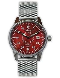 LIV MORRIS LIV MORRIS Venedig Mesh 0732066354475 - Reloj para hombres, correa de acero inoxidable color acero