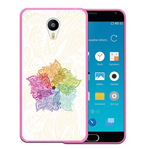 Meizu m2 note Hülle, WoowCase Handyhülle Silikon für [ Meizu m2 note ] Bunte Mandala Handytasche Handy Cover Case Schutzhülle Flexible TPU - Rosa