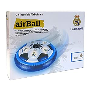 Toy Partner- Airball Real Madrid Air Ball Luces Deslizante, Color Blanco y Azul (15200)