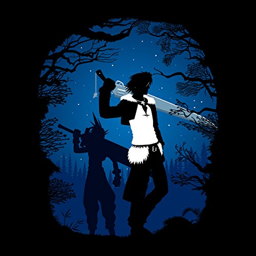 Final Fantasy Forest Silhouette Men's Vest Black