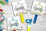 6St. Einladungskarten Kindergeburtstag mit Stern inkl. Party Tröte