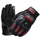 TechCode Touchscreen Handschuhe, Vollfinger Winddicht Silikon Touchscreen Frühjahr Handschuh für Smartphone Berg MTB Fahrrad Reiten Road Racing Radfahren Handschuhe für Männer Frauen Damen -XXL