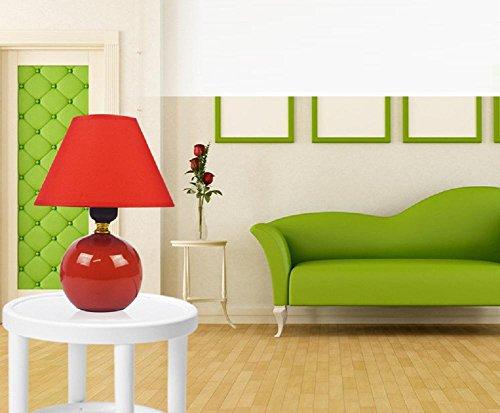 Kesierte E27 tavolo in ceramica lampade da comodino lampada da letto minimalista moderna cinese creativa del tessuto feed caldo e sveglio 13inch decorazioni piccola lampada , b