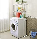 COMFOLD Stainless Steel Adjustable Storage Rack for Washing Machine (Silver)