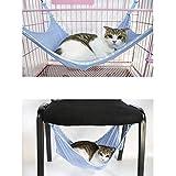 Homgaty Hamac d'été en maille pour animal domestique Chat Lit Suspendu Cage Radiateur Lit Support rembourré Panier feutré