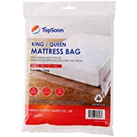 TopSoon Plastic King / Queen Mattress Bag Cover for Storage or Moving or Protection 78 Inches X96 Inches