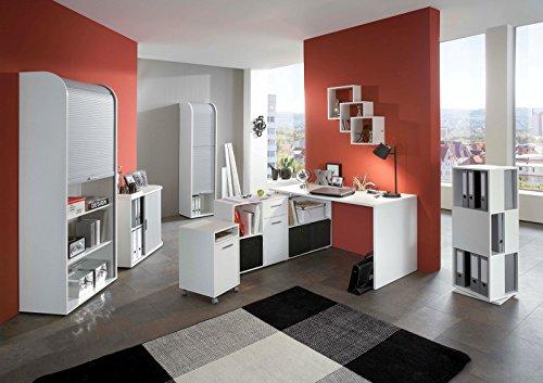 6-tlg. Arbeitszimmer Office Pro in Weiß (ohne Tower und Fibi)