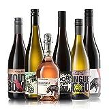 GEILE WEINE Weinpaket WEINPUNK (6 x 0,75l) | Probierpaket mit Rot-, Rosé und Weißwein von Winzern aus Italien und Deutschland
