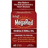 MegaRed Omega-3 Krill Oil Softgel, 65 Count by Megared
