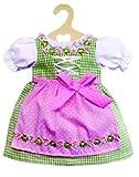 Heless 1111 - Puppenkleidung, fesches Dirndl für 28 cm bis 33 cm große Puppen