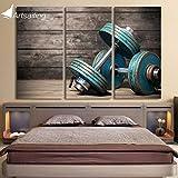 Relddd Home Herz Wandbild Wandbilder Öl Malerei HD Drucken Triple Naht Langhantel Sport Fitness Gemacht der Leinwand