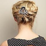 Haarschmuck Schwarz Haarschmuck Silber Krone Haarspange Schwarz Haarschmuck Hochzeit Haarklammer