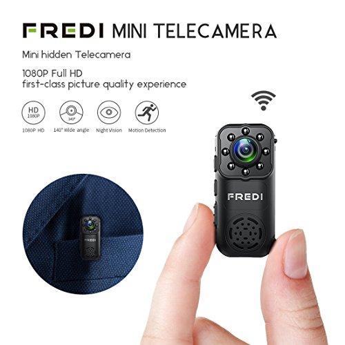 Fredi hd 1080p videocamera spia microtelecamera nascosta per interni ed esterni wifi camera sorveglianza ip rilevazione movimento/supporta micro sd fino a 128g((scheda sd non inclusa) (l6)