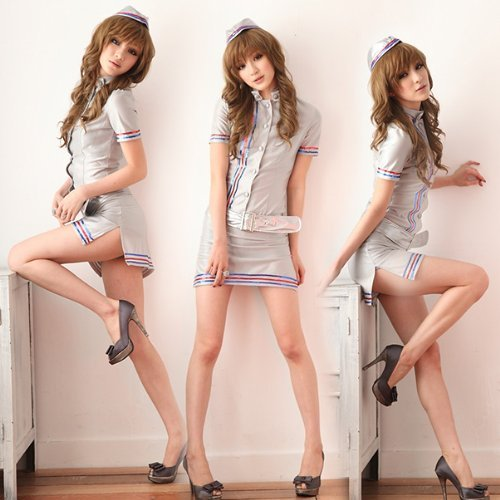 [Cosplay] stewardess flight attendant cosplay Silver CA (japan -