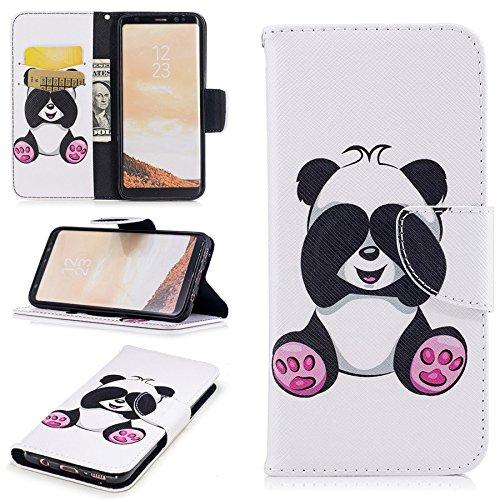 Ooboom® iPhone X Coque PU Cuir Flip Housse Étui Cover Case Wallet Portefeuille Supporter avec Carte de Crédit Fentes Titulaire de Trésorerie pour iPhone X - Cul Panda
