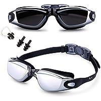 Feilan Gafas de natación,Gafas para Nadar Antiempañado y Anti Rayos UV para Hombres Mujeres Adultos Jóvenes Niños - Lo Mejor para Hombres, Mujeres, Niños - Negro