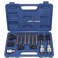 Apiex - Coffre de 13 pièces d'embouts et accessoires pour le démontage des poulies d'alternateurs débrayables